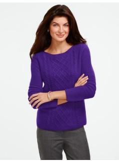Center-Cable Bateau Sweater