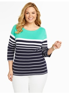 Pima Cotton Breton Stripes Tee