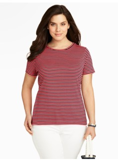 Pima Cotton Striped Tee