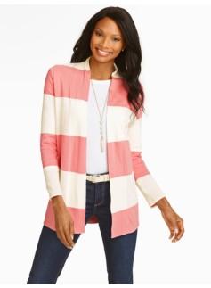 Bold Stripe Flyaway Cardigan
