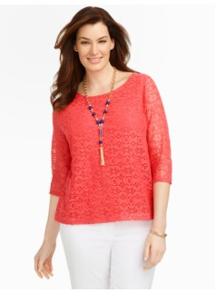 Geo-Floral Lace Top