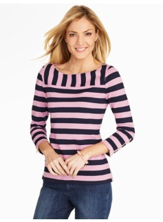 Birch Stripe Boatneck Tee