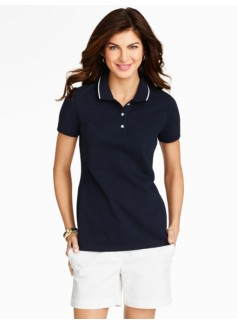 Tipping-Trimmed Pique Polo
