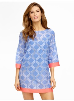 Vintage Diamond Tunic Cover-Up