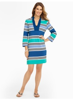 Multi-Stripes Pique Tunic