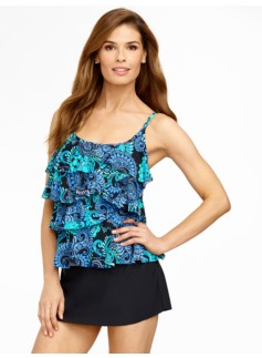 Paisley Ruffled Tankini Top Miraclesuit� By Swim Shaper�.