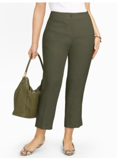 Heritage Refined-Linen Straight-Leg Crops