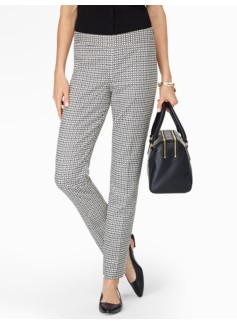 Talbots Chatham Ankle Pant -  Side-Zip Mosaic Jacquard
