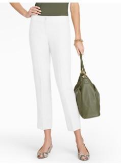 Heritage Refined-Linen White Straight-Leg Crops