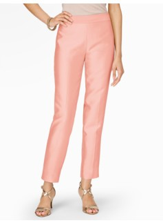 Heritage Doupioni Side-Zip Ankle Pants