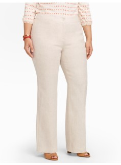 Curvy Refined-Linen Wide-Leg Pants