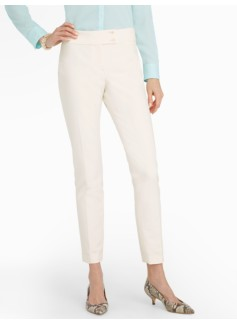 Signature Ivory Tailored Crepe Ankle Pants