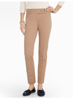 Slimming Signature Cotton Bi-Stretch Ankle Pants