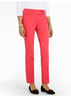 Slimming Curvy Cotton Bi-Stretch Ankle Pants
