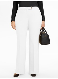 Curvy Lindsey White Bootcut Pants