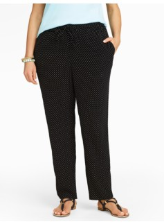 Fun Dots Relaxed Full-Length Pants