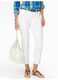Slimming Signature White Crop Jeans