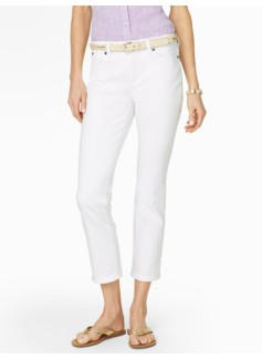 Slimming Heritage White Crop Jeans