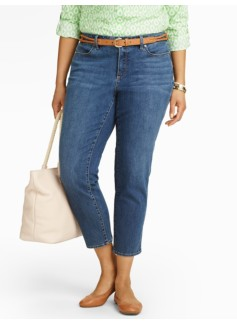 Slimming Heritage Crop Jeans - Cape Wash