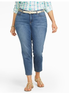 Slimming Curvy Cape Wash Crop Jeans