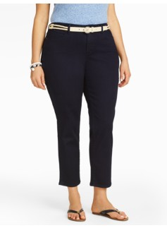 Slimming Curvy Midnight Wash Crop Jeans