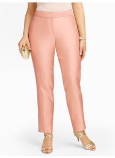 Heritage Doupioni Front-Zip Ankle Pants