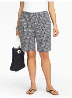 Sunglasses Print Twill Bermuda Shorts