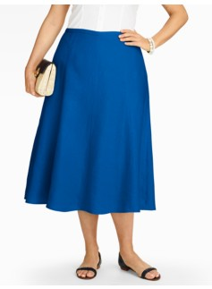 Refined Linen Flared Full Skirt
