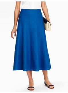 Refined Linen Flared Full Skirt