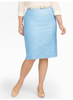 Sparkle Tweed Pencil Skirt