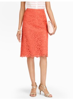 Rose Lace A-Line Skirt