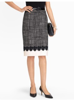 Border Lace Pencil Skirt