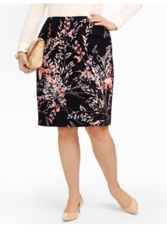 Wispy Floral Pencil Skirt