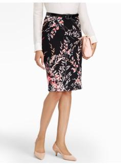 Wispy Floral Pencil Skirt