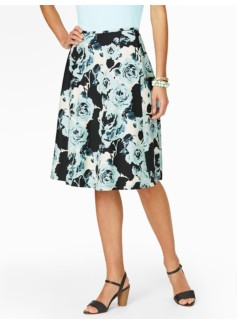 Brushstroke Rose Skirt