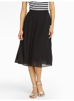 Fun Dot Pleat Skirt