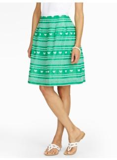 Eyelet Tennis Skirt