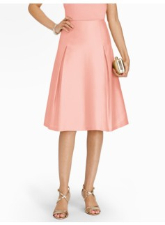 Doupioni Pleated Skirt