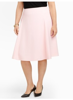 Flared Crepe Skirt