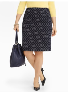 Mosaic-Tile Pencil Skirt