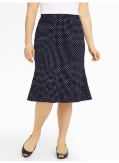 Pindot Matte Jersey Skirt