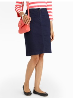 Midnight Wash Denim Pencil Skirt