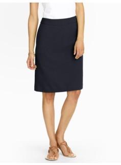 Ottoman-Knit A-Line Skirt