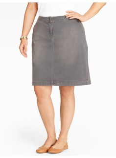 Grey Haze Denim A-Line Skirt