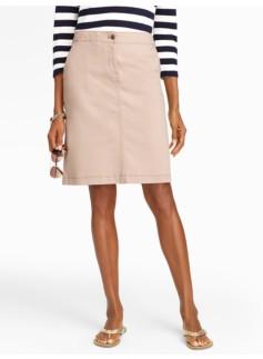 Colored Denim A-Line Skirt