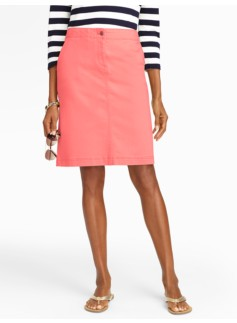 Colored Denim A-Line Skirt
