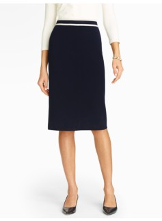 Double-Knit Pencil Skirt