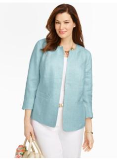Refined Linen No-Close Jacket