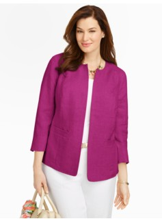 Refined Linen No-Close Jacket