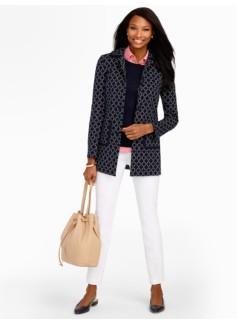 Mosaic-Tile Knit Jacket